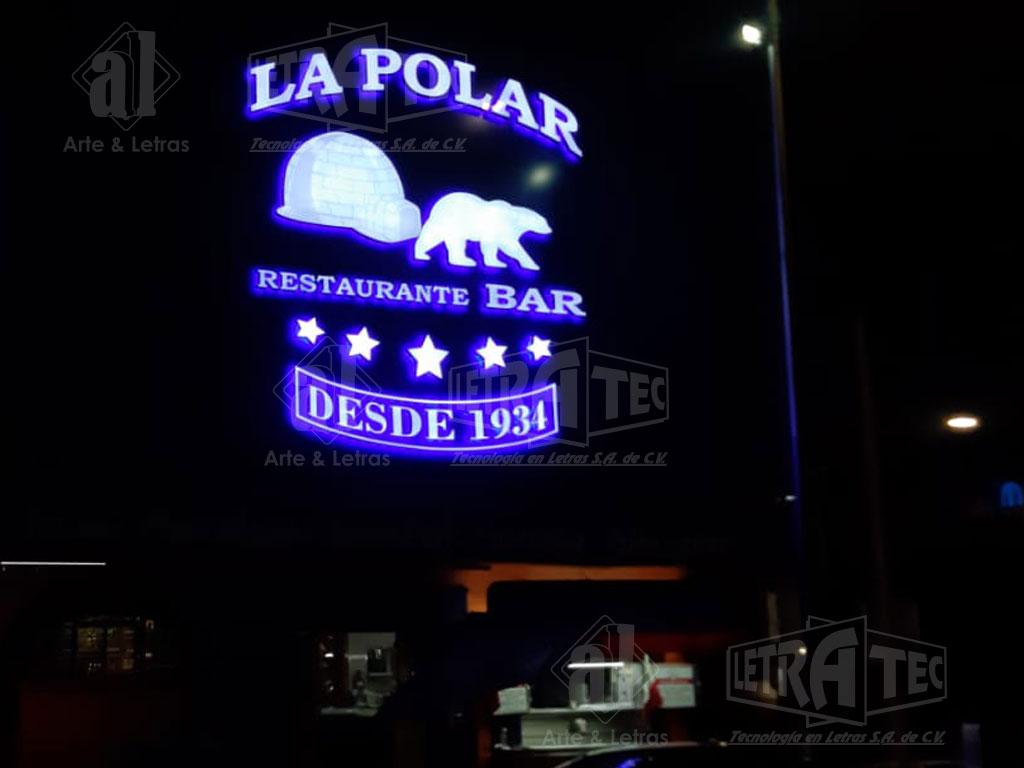 Letras 3D La Polar